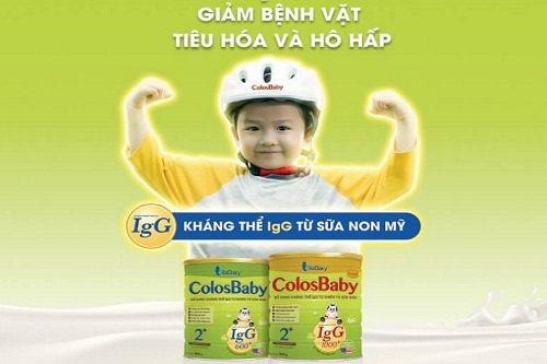 Uống sữa Colosbaby giúp tăng cường kháng thể