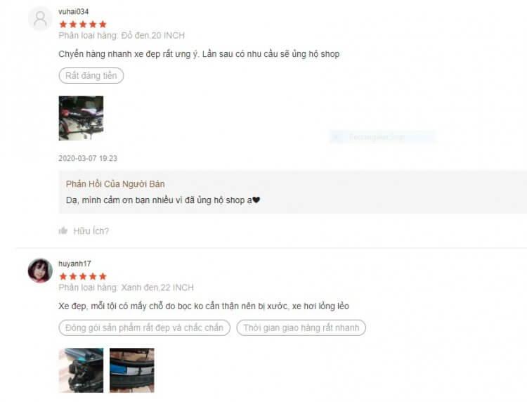 Nhận xét tích cực của người dùng về mẫu xe địa hình đang được rất nhiều bé trai yêu thích