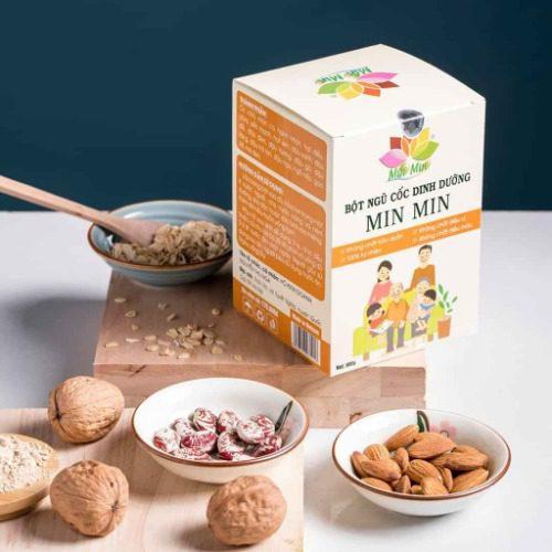 Bột ngũ cốc dinh dưỡng Min Min giúp lợi sữa sau sinh