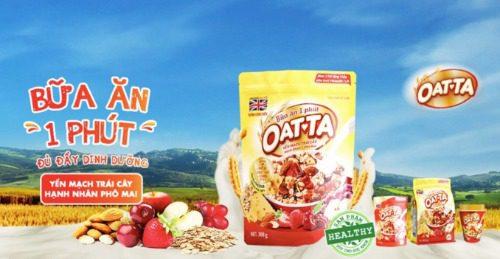 Ngũ cốc Oatta cho bữa ăn sáng tiện lợi