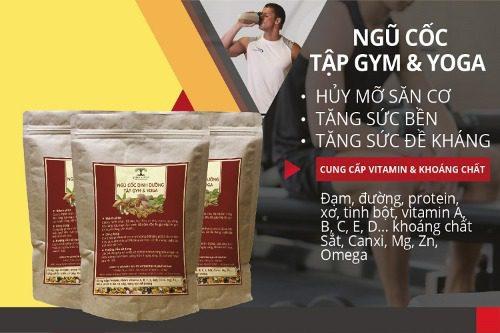 Ngũ cốc dành cho người tập gym và yoga