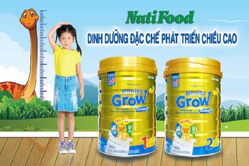 Nutifood Nuvita Grow giúp tăng chi�u cao tối đa