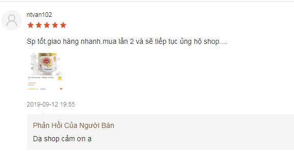 Khách hàng phản hồi tích cực v� sản phẩm Nuti IQ Gold Step 1