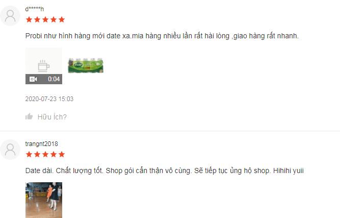 Đa số người dùng đánh giá cao sữa chua Probi
