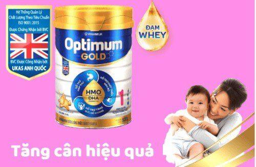 Optimum Gold giúp bé tăng cân hiệu quả