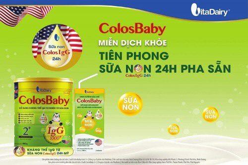 Colosbaby sữa non nhập khẩu và nhiều thành phần bổ dưỡng