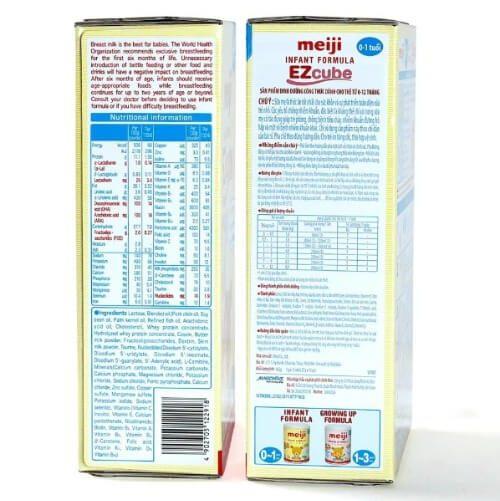 Thành phần sữa Meiji