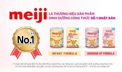 Meiji - thương hiệu sữa công thức số 1 Nhật Bản