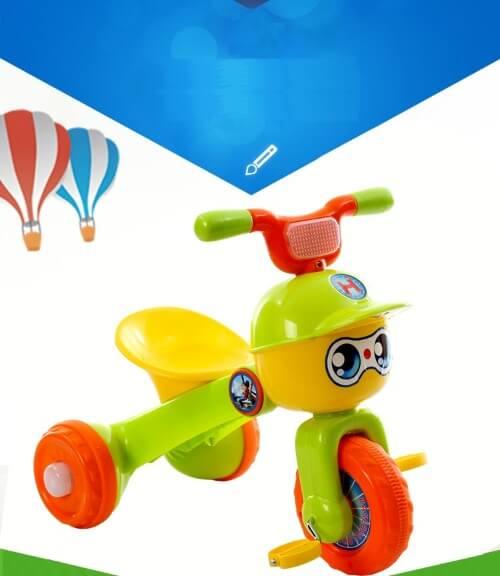 Xe đạp Baby 3 bánh gấp gọn cho bé từ 1 - 4 tuổi