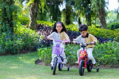 Xe đạp là phương tiện cần thiết để bé 2 tuổi rèn luyện thể chất