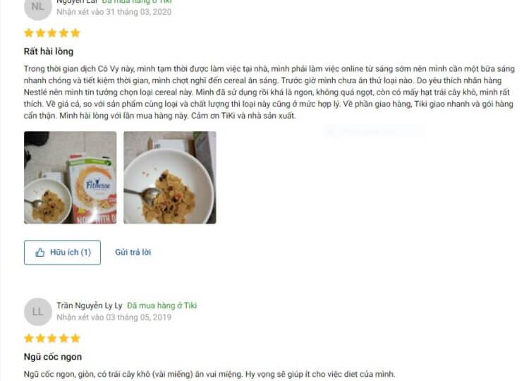 Đánh giá của người dùng về sản phẩm Fitnesse and Fruit Kellogg's