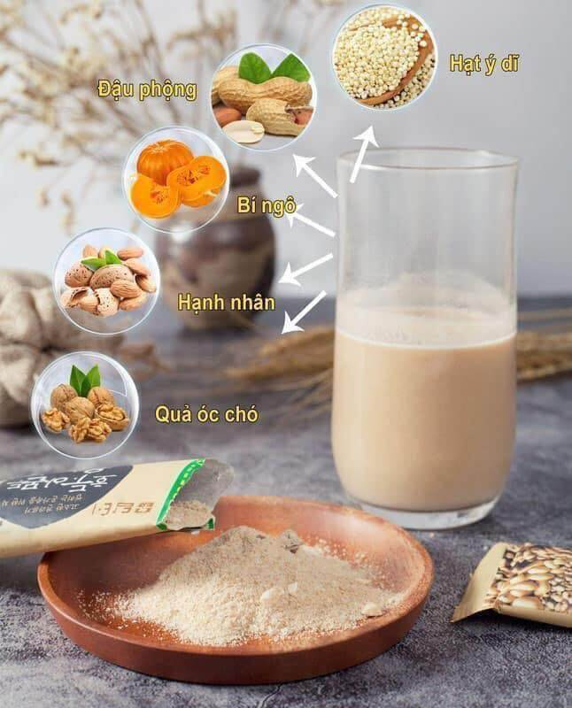 Các loại hạt chính có trong thành phần sản phẩm