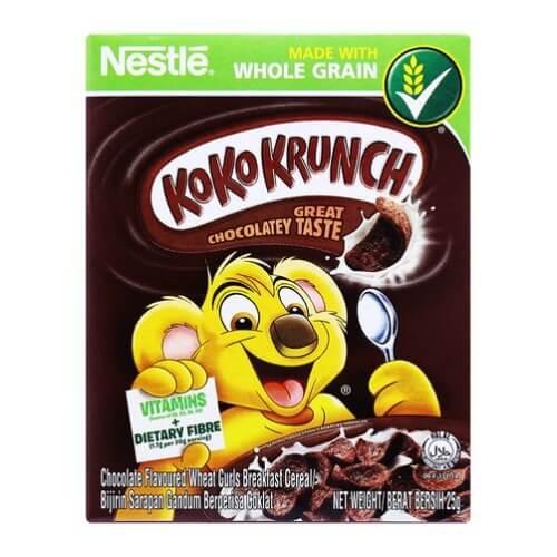 Bánh ngũ cốc Koko Krunch sở hữu hương vị chocolate cực kì ngọt ngào và hấp dẫn