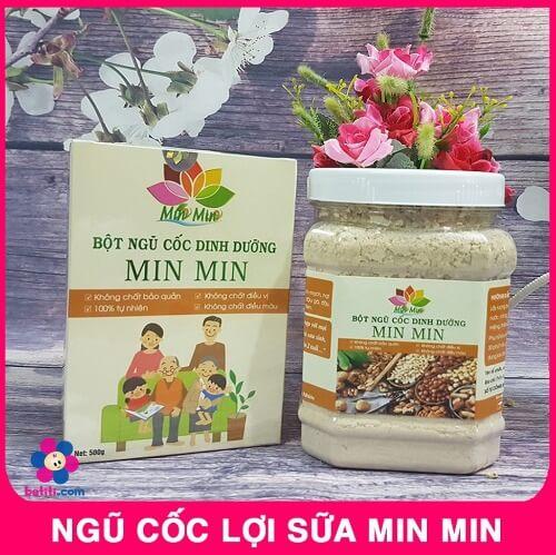 Ngũ cốc lợi sữa Minmin giúp mẹ gọi sữa về nhanh, về đều