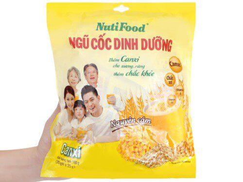 Ngũ cốc Nutifood giàu chất xơ rất tốt cho hệ tiêu hóa