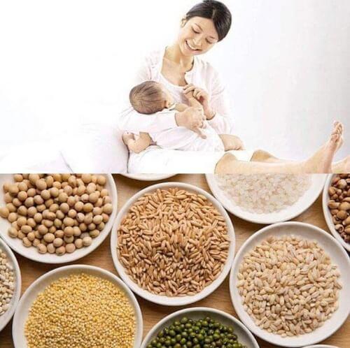 Uống ngũ cốc rất tốt cho bà bầu và phụ nữ mới sinh con