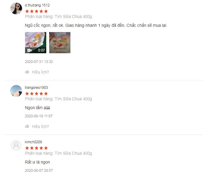 Review ngũ cốc Ocak tím