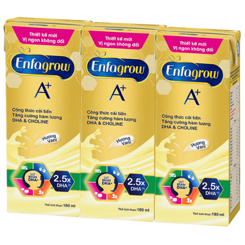 Sữa hộp giấy phiên bản Enfagrow A+ 3 phù hợp với trẻ từ 2 tuổi trở lên