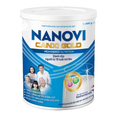 Sữa Nanovi Canxi Gold 900g