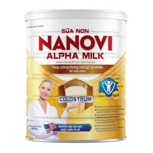 Sữa non Nanovi Alpha Milk