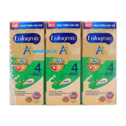 Sữa hộp giấy Enfa bổ sung nhiều chất dinh dưỡng mà không làm trẻ bị táo bón