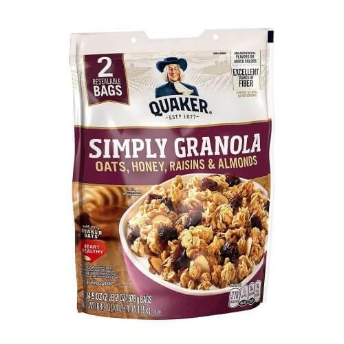 Yến mạch ngũ cốc ông già Quaker simply granola