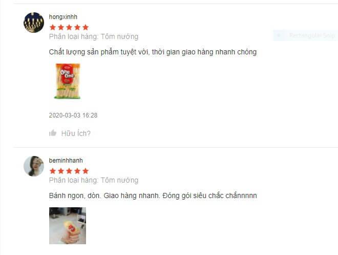 Nhận xét của người dùng về bánh gạo One One dành cho phụ nữ mang thai