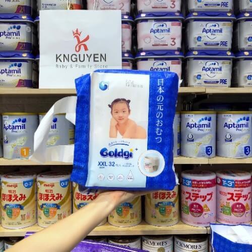 Bỉm cao cấp Nhật Bản Goldgi được sản xuất với dây chuy�n tiên tiến, hiện đại