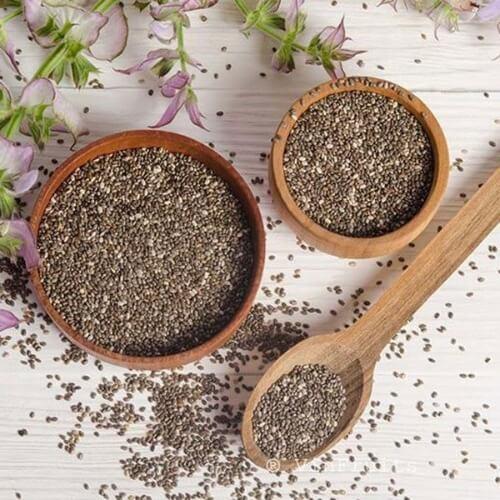 Hạt chia là một trong những loại hạt tốt cho bà bầu bị bệnh tiểu đường trong thai kì