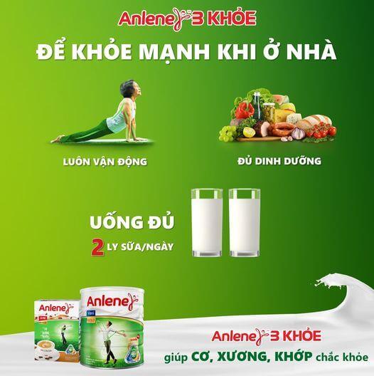 Nên uống sữa kết hợp vận động và bổ sung dinh dưỡng khác
