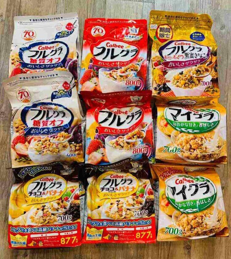 Ngũ cốc nguyên hạt Calbee của Nhật