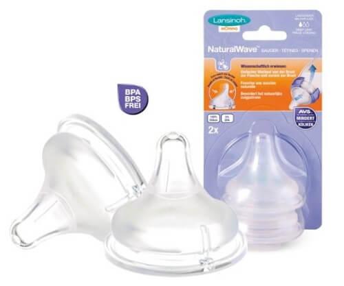 Núm ti slicone size M phù hợp với các bé từ 3 đến 6 tháng tuổi