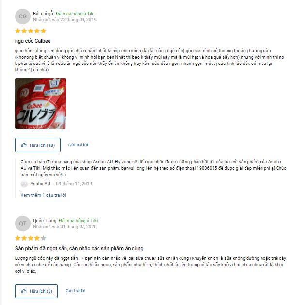 Review ngũ cốc Calbee đỏ