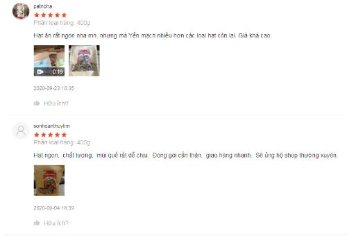 Ngũ cốc Happi Oha nhận được nhiều đánh giá tích cực