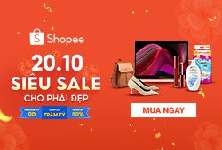 siêu sale shopee 20/10
