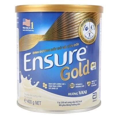 Sữa bột Hoa Kì Ensure mang lại nguồn dinh dưỡng đầy đủ và cân đối