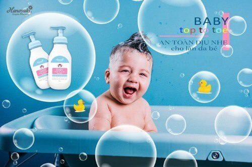 Sữa tắm Hanayuki cho bé