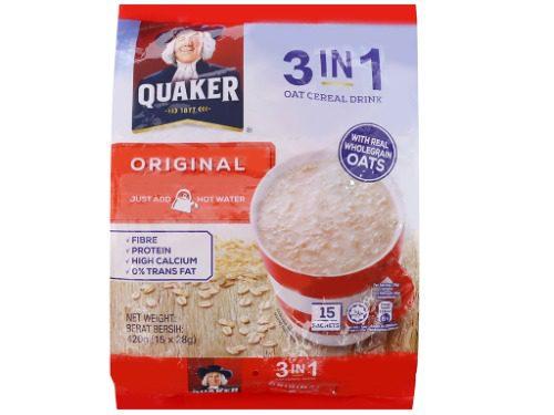 Thức uống yến mạch Quaker 3in1 vị truyền thống