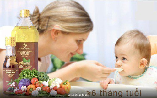 Mẹ có thể thêm dầu ăn vào món ăn dặm khi bé đủ 6 tháng tuổi