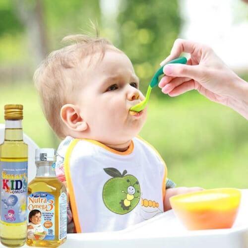 Các chất có trong dầu đóng vai trò quan trọng cho sự phát triển toàn diện của bé