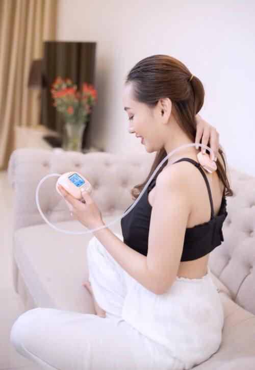 Máy hút sữa điện đôi Hegen có thể dùng như máy mát-xa mini