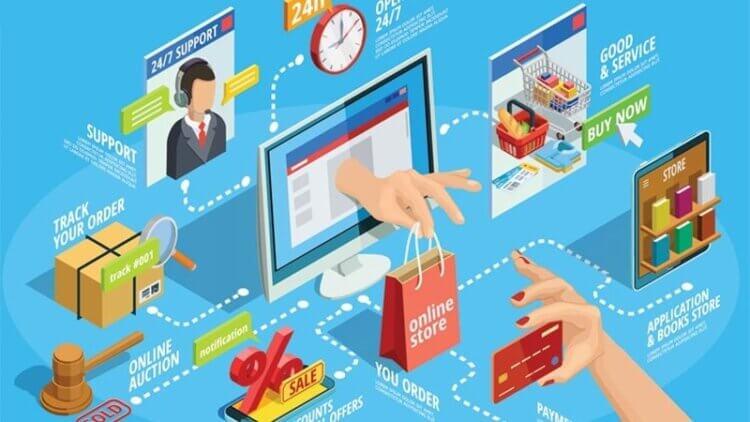 Mua sắm thuận tiện qua trang thương mại điện tử