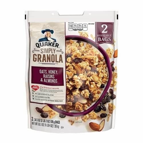 Ngũ cốc ông già Quaker Simply được làm từ các loại quả và hạt dinh dưỡng