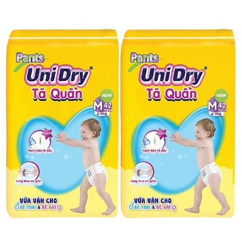 Tã quần Unidry dành cho các bé có cân nặng từ 6kg đến 16kg
