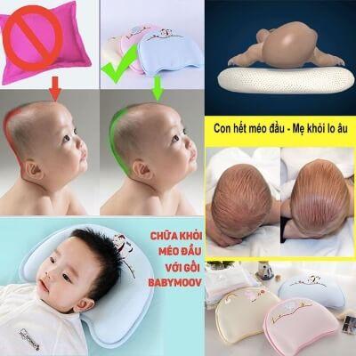 Công dụng khác của chiếc gối từ cao su non là chống méo đầu ở trẻ