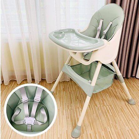 Ghế ăn dặm Hàn Quốc được sản xuất từ chất liệu cực kì an toàn với trẻ nhỏ