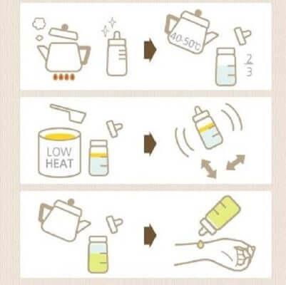 Cách pha sữa cho bé