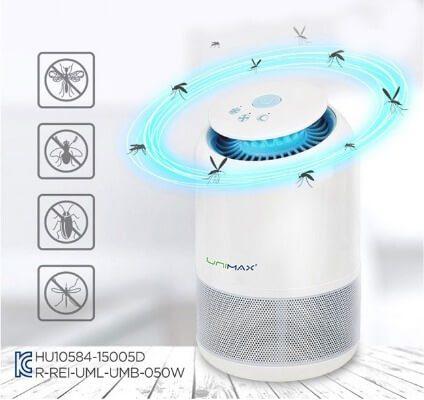 Đèn bắt muỗi có thiết kế kín, bảo vệ người dùng khi tiếp xúc với đèn