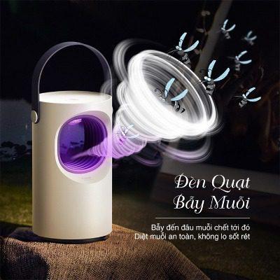 Đèn bắt muỗi sử dụng quạt hút gió