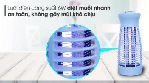 Đèn diệt muỗi sử dụng công suất nhỏ, tiết kiệm điện